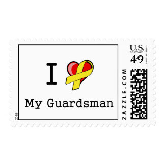 I Heart My Guardsman Postage Stamps
