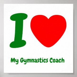I Heart My Gymnastics Coach Poster