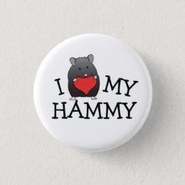 I Heart My Hammy Black Bear Syrian Button