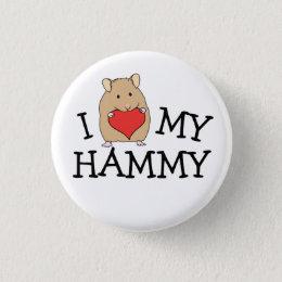 I Heart My Hammy Sable Syrian Button