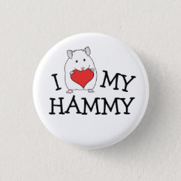 I Heart My Hammy White Syrian Button