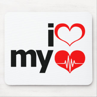 I Heart My Heart Mouse Pad