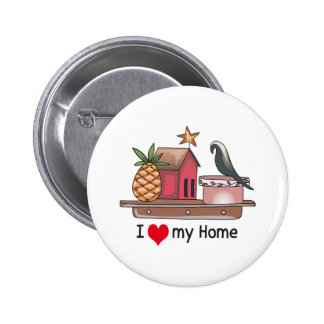 I HEART MY HOME 2 INCH ROUND BUTTON