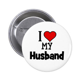 I Heart my Husband Button