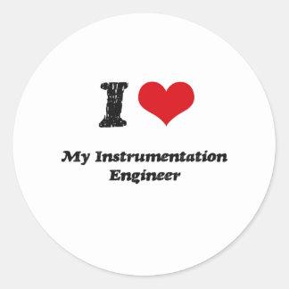 I heart My Instrumentation Engineer Round Sticker