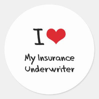 I heart My Insurance Underwriter Stickers