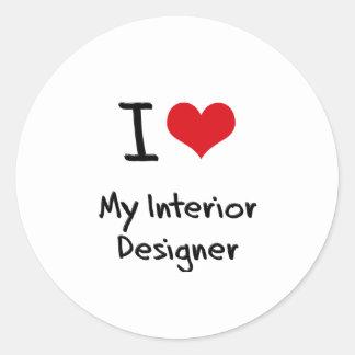 I heart My Interior Designer Round Stickers