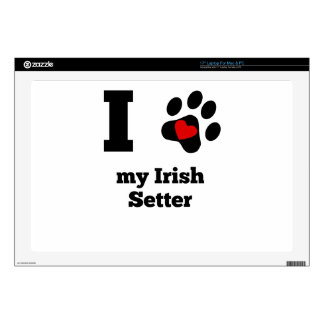 I Heart My Irish Setter Laptop Skin