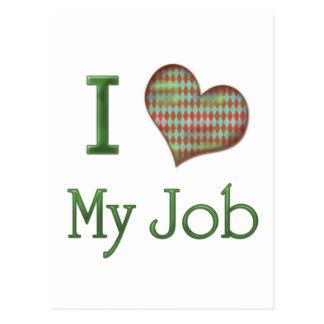 I Heart My Job Postcard