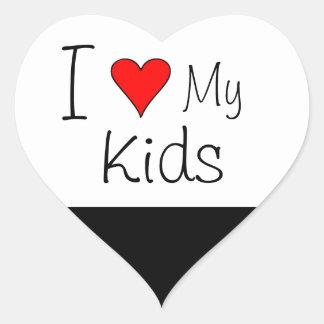 I heart my kids heart sticker