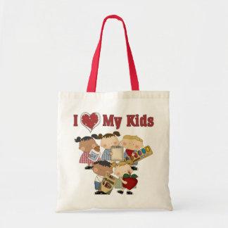 I Heart My Kids Teacher Gift Tote Bag