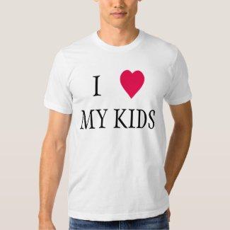 I heart my kids tee shirts