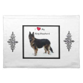 I heart my King Shepherd Cloth Placemat
