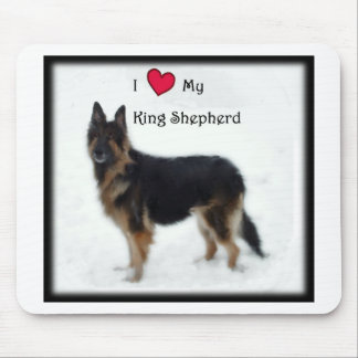 I heart my King Shepherd Mouse Pad