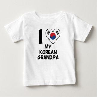 I Heart My Korean Grandpa Baby T-Shirt