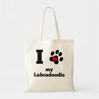 I Heart My Labradoodle Tote Bag