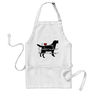 "I ""heart"" my Labrador Retriever"" words with graphi Adult Apron"
