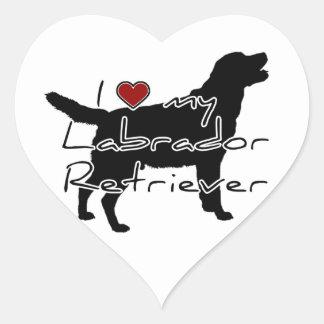 """I """"heart"""" my Labrador Retriever"""" words with graphi Heart Sticker"""