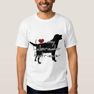 """I """"heart"""" my Labrador Retriever"""" words with graphi T Shirt"""
