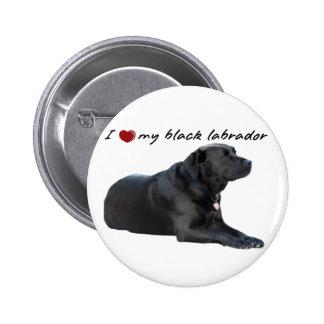 "I ""heart"" my Labrador Retriever"" words with photo Pins"