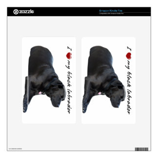 "I ""heart"" my Labrador Retriever"" words with photo Kindle Fire Skins"
