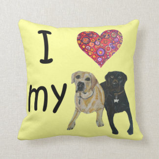 I heart my Labs Pillow