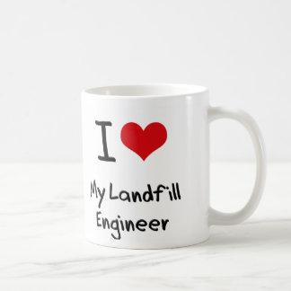 I heart My Landfill Engineer Classic White Coffee Mug