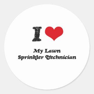 I heart My Lawn Sprinkler Technician Sticker