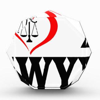 I heart my lawyer acrylic award