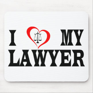 I heart my lawyer mouse pad