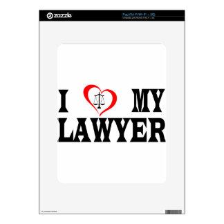 I heart my lawyer skin for iPad
