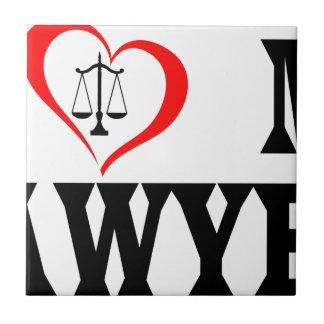I heart my lawyer tile