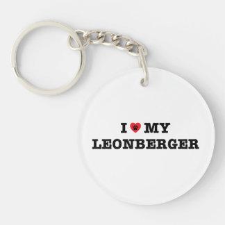 I Heart My Leonberger Acrylic Keychain