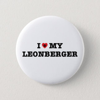 I Heart My Leonberger Button