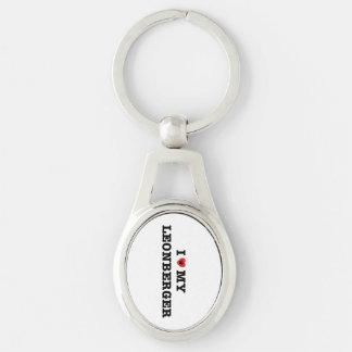 I Heart My Leonberger Metal Keychain