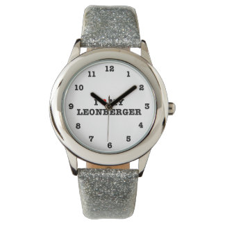 I Heart My Leonberger Numbered Wristwatch