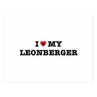 I Heart My Leonberger Postcard