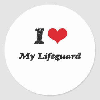 I heart My Lifeguard Stickers