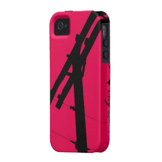 I (Heart) My Lineman iPhone 4/4s Case-Hot Pink