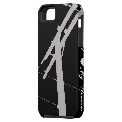 I (Heart) My Lineman- iPhone 5 Case Black