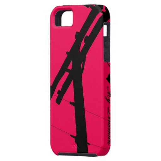 I (Heart) My Lineman iPhone 5 Case-Hot Pink