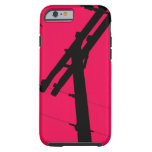 I (Heart) My Lineman iPhone 6 case-Hot Pink Tough iPhone 6 Case