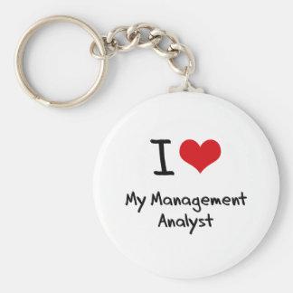 I heart My Management Analyst Key Chains