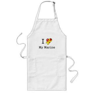 I Heart My Marine Apron