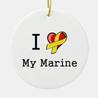 I Heart My Marine Ornament