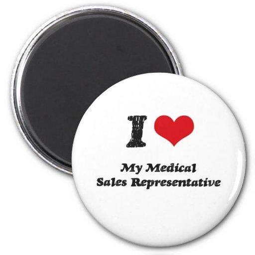 I heart My Medical Sales Representative Fridge Magnet