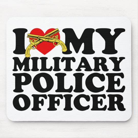 "I ""Heart"" My Military Police Officer Mouse Pad"
