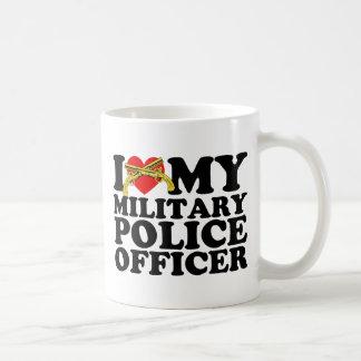 I Heart My Military Police Officer Coffee Mugs