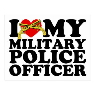 """I """"Heart"""" My Military Police Officer Postcard"""