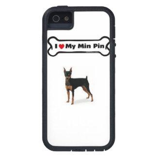 I heart my min pin phone case